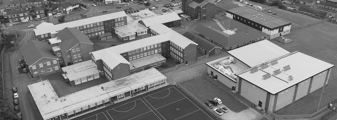Frederick Gough School aerial shot