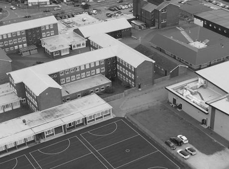 Frederick Gough School aerial shot